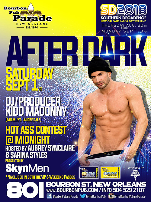 """The After Dark Party"" at Southern Decadence 2018 with DJ Kidd Madonny"