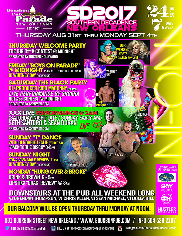 Southern Decadence 2017 at The Bourbon Pub / Parade